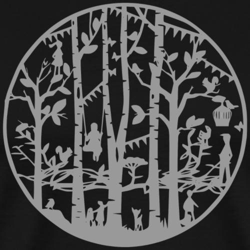 Mandala knipkunst winter - Mannen Premium T-shirt