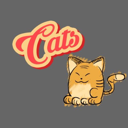 Katze | Katzen süß Schriftzug - Männer Premium T-Shirt