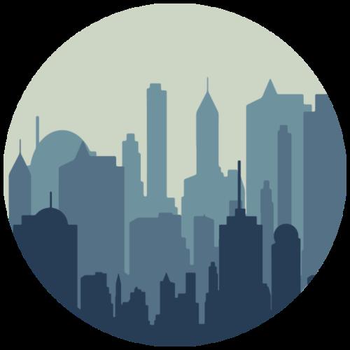 Stadt | Skyline Wolkenkratzer Hochhaus - Männer Premium T-Shirt