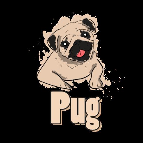 Mops | süß Hund Welpe - Männer Premium T-Shirt