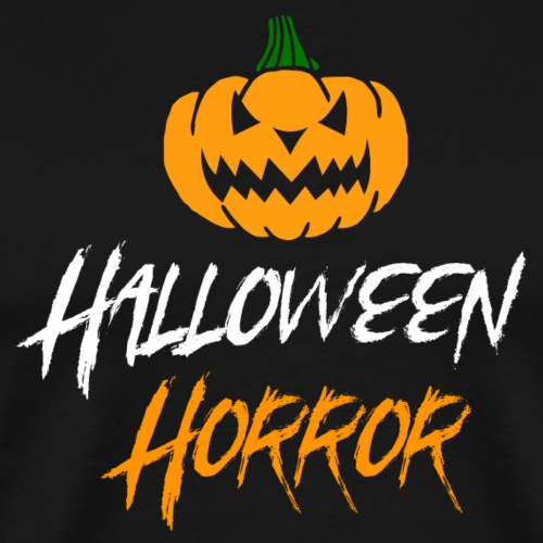 Halloween horror pumpkin white - Men's Premium T-Shirt
