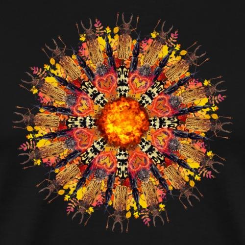 orange flame bugs mandala - Men's Premium T-Shirt