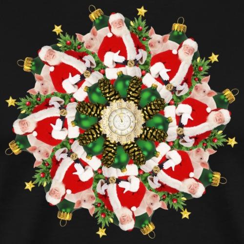 christmas mandala - Men's Premium T-Shirt