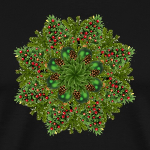New Year Tree Mandala - Men's Premium T-Shirt