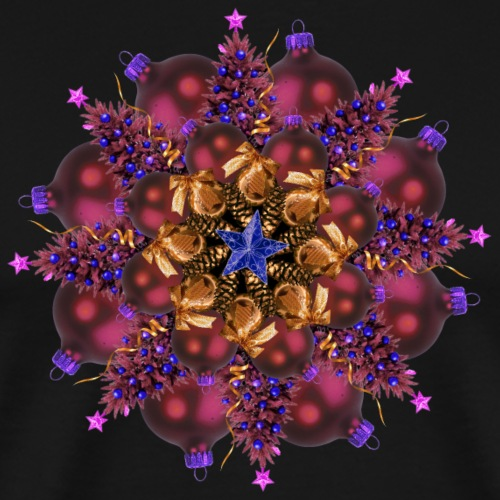 purple ornaments mandala - Men's Premium T-Shirt