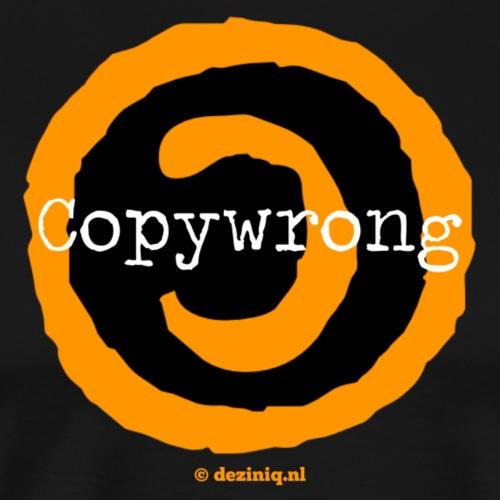 Copywrong - Mannen Premium T-shirt