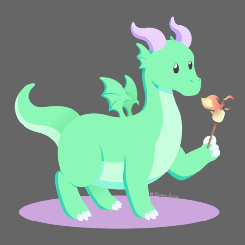 Animali fantasy kawaii - Drago Europeo