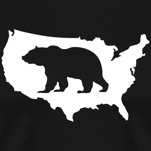 USA Amerika America Grizzly Teddy Bär - Men's Premium T-Shirt