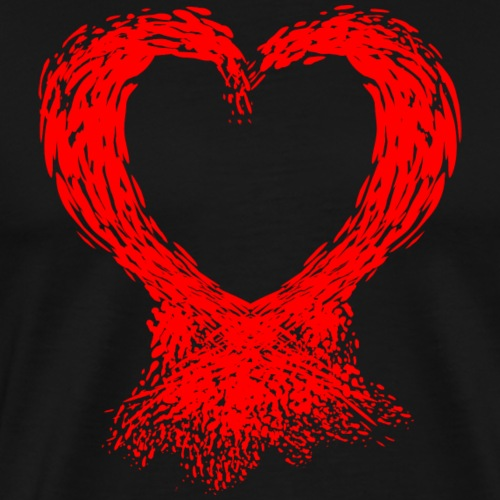 Serce Plama - Koszulka męska Premium