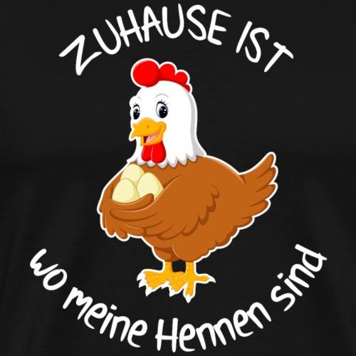 Bauer Landwirt Hühner Traktor Shirt Geschenk - Männer Premium T-Shirt