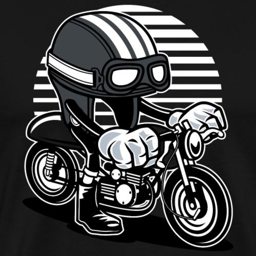 Moped Motorrad - Fahrender Helm - Männer Premium T-Shirt
