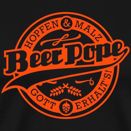 Beer Pope - Männer Premium T-Shirt