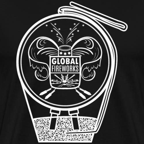 Global Feuerwerk Pyro Shell - Männer Premium T-Shirt