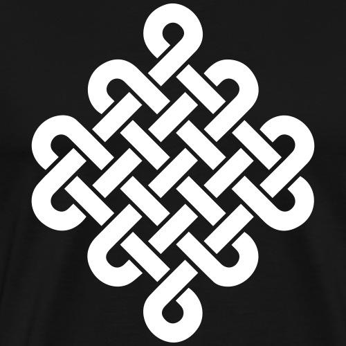 Unendlich Symbol Tattoo Buddhismus Knoten endlos - Männer Premium T-Shirt