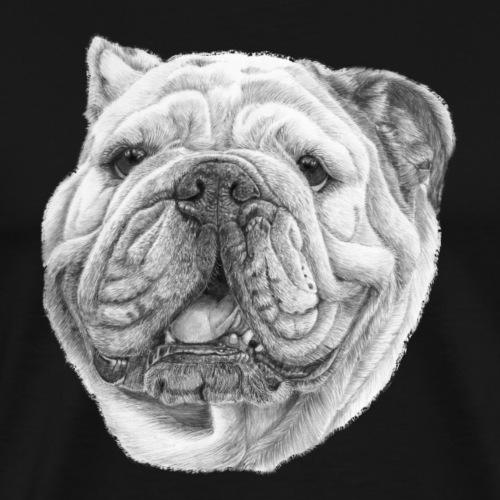EngelskBulldog M - Herre premium T-shirt