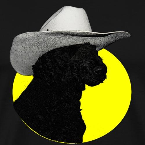 Hund mit Hut - Männer Premium T-Shirt