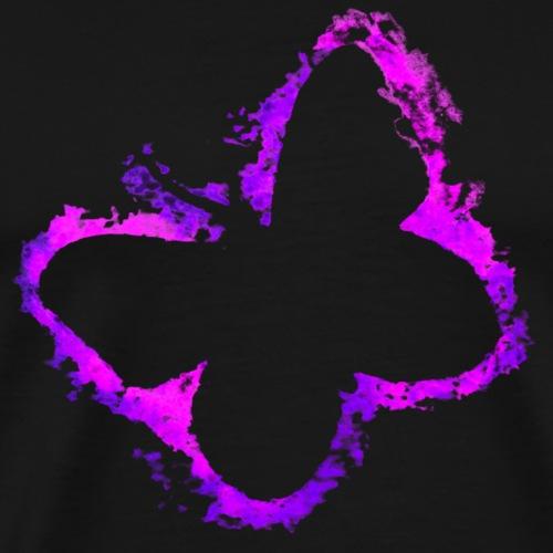 Struktur Schmetterling pink und lila - Männer Premium T-Shirt