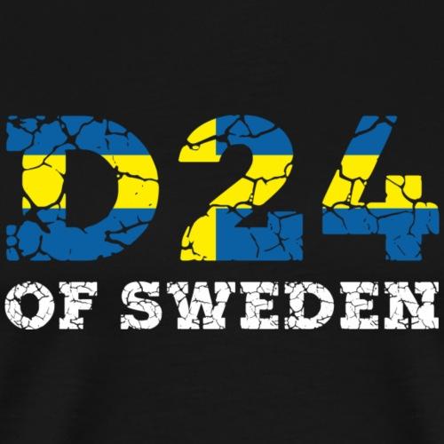 D24OFSWEDEN - Premium-T-shirt herr