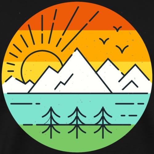 Landschaft Natur - Männer Premium T-Shirt