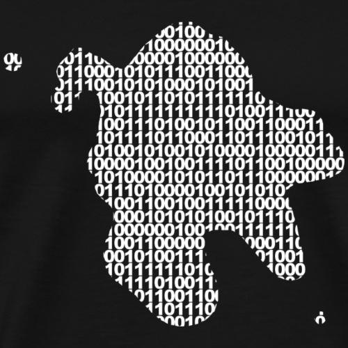 Klecks Weiß Digitaldruck - Männer Premium T-Shirt