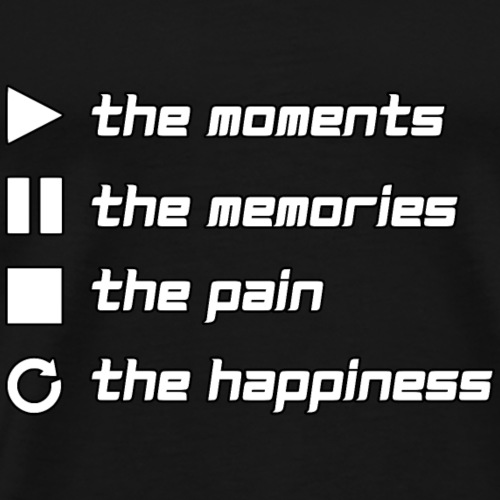 Play the Moments Stop the Pain - Männer Premium T-Shirt