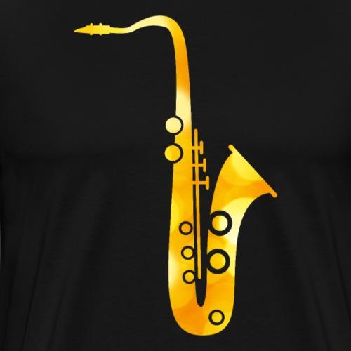 Goldenes Saxophon - Männer Premium T-Shirt