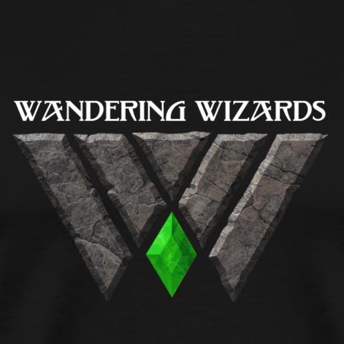 Wandering Wizards Logo Line - Men's Premium T-Shirt