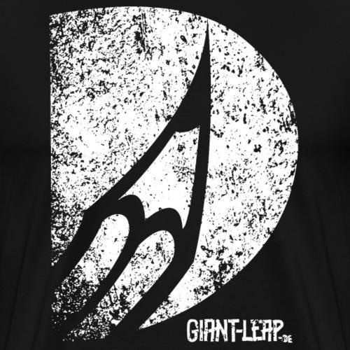 bleistift grunge weiss - Männer Premium T-Shirt