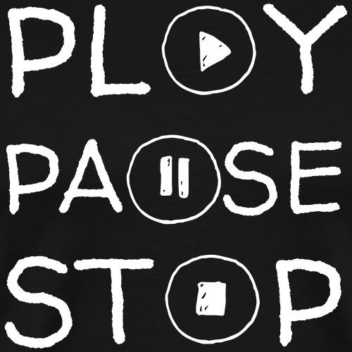Play Pausa Stop - Maglietta Premium da uomo