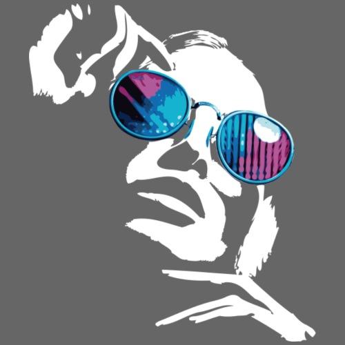 Frau mit Sonnenbrille - White Edition - Männer Premium T-Shirt