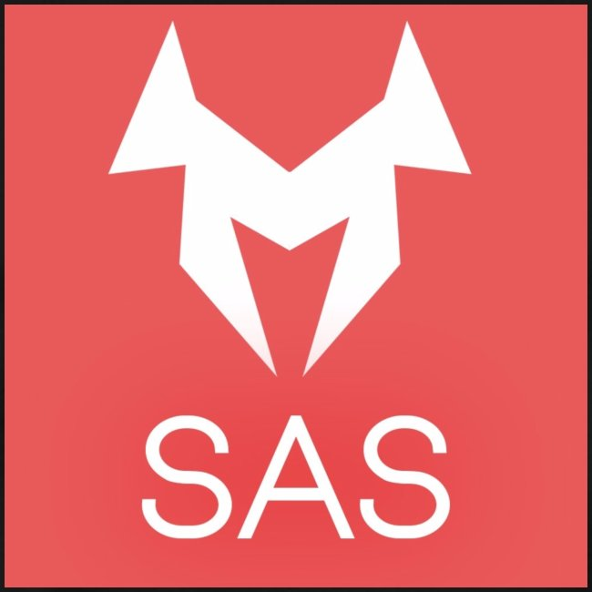 SAS Logo Hintergrund rot