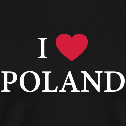 I LOVE POLAND – HEART - Männer Premium T-Shirt