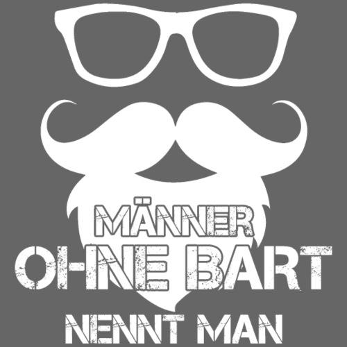 Maenner OHNE BART weiss - Männer Premium T-Shirt