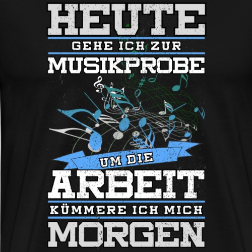 Blaskapelle Blasmusik Noten Shirt Geschenk - Männer Premium T-Shirt