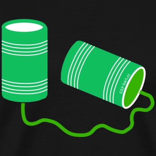 Communicatie Old Skool - Mannen Premium T-shirt