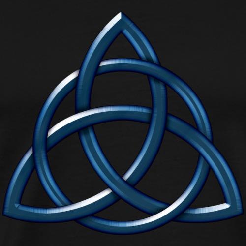 Celtic Encircled Triquetra Circle - Men's Premium T-Shirt