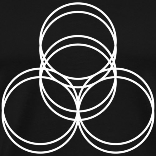 4 Ringe 2fach weiss - Männer Premium T-Shirt