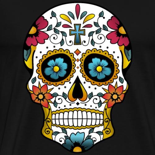 Catrina Flowers - Camiseta premium hombre