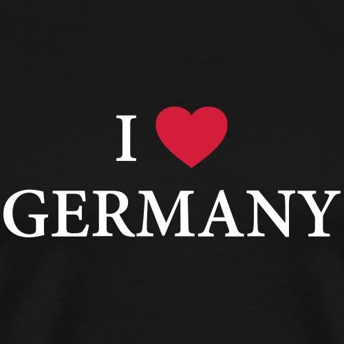 I LOVE GERMANY – HEART - Männer Premium T-Shirt