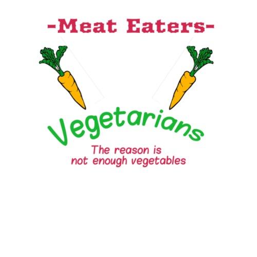 Vegetarians VS Meat eaters - Men's Premium T-Shirt