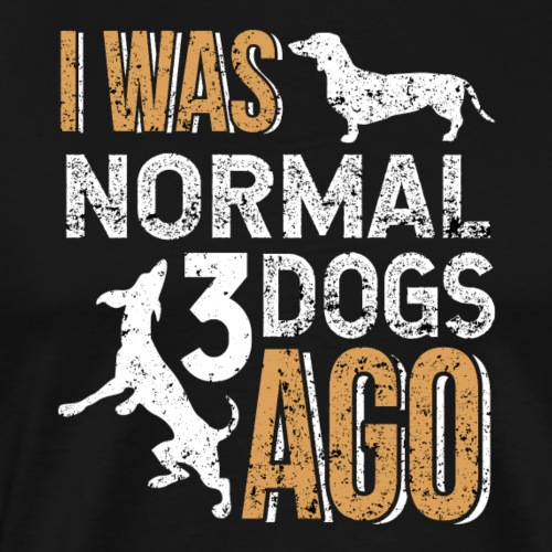 I WAS NORMAL 3 DOGS AGO - Männer Premium T-Shirt