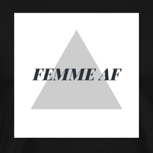 femme af as triangle hipster design - Men's Premium T-Shirt