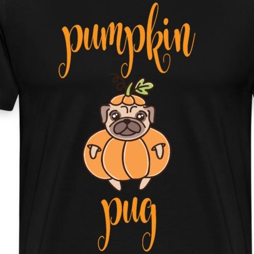 Pumpkin Pug - Männer Premium T-Shirt