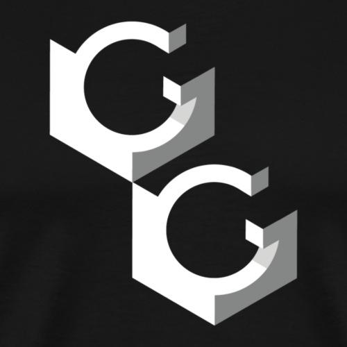 Transparant GG logo - Mannen Premium T-shirt