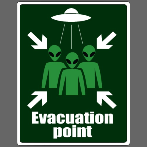 Alien Evacuation Point - Men's Premium T-Shirt