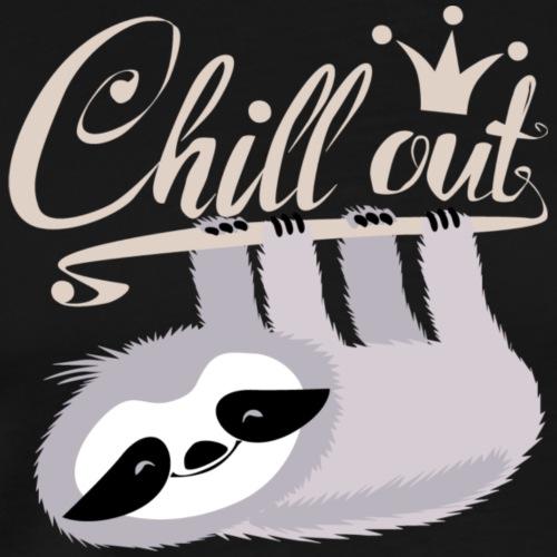Chill Out Faultier - Männer Premium T-Shirt