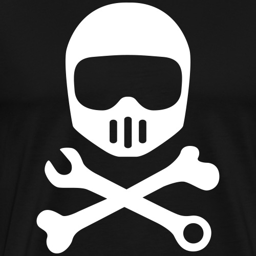 Motorcycle moped scooter helmet pirate - Men's Premium T-Shirt