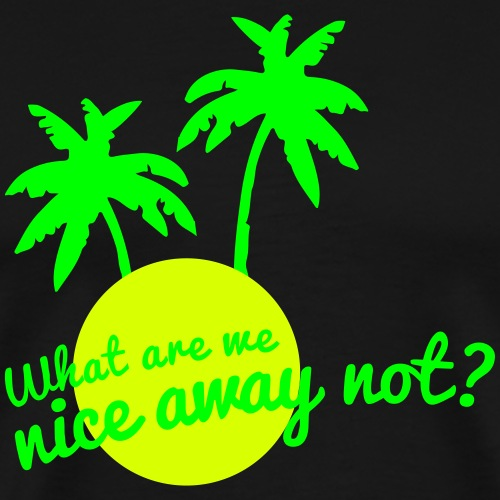 What are we nice away not - Mannen Premium T-shirt