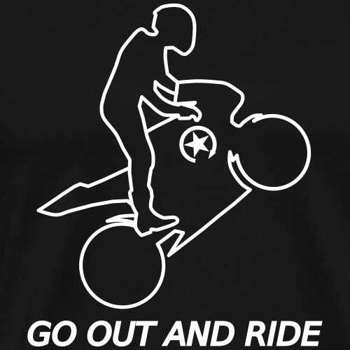 go out and ride superbike wheelie - Men's Premium T-Shirt