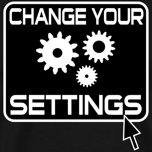 Settings Gamer Button - Männer Premium T-Shirt